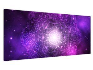 Obraz fialové abstrakce (V022148V10040)