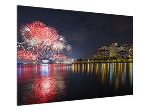 Tablou cu artificii in Singapur (V020035V10070)