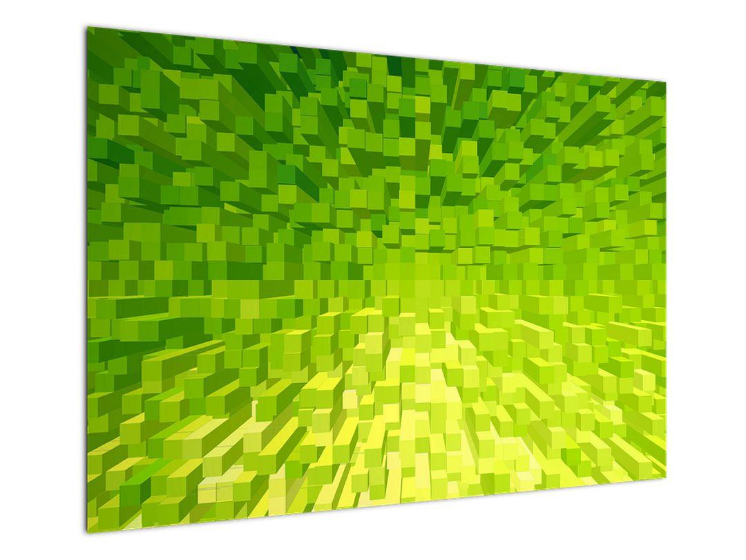 Obraz žlutozelených kostiček (V020057V10070)