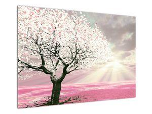 Růžový obraz stromu (V020058V10070)