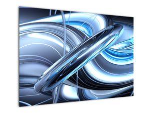 Tablou cu abstracție albastră (V020061V10070)