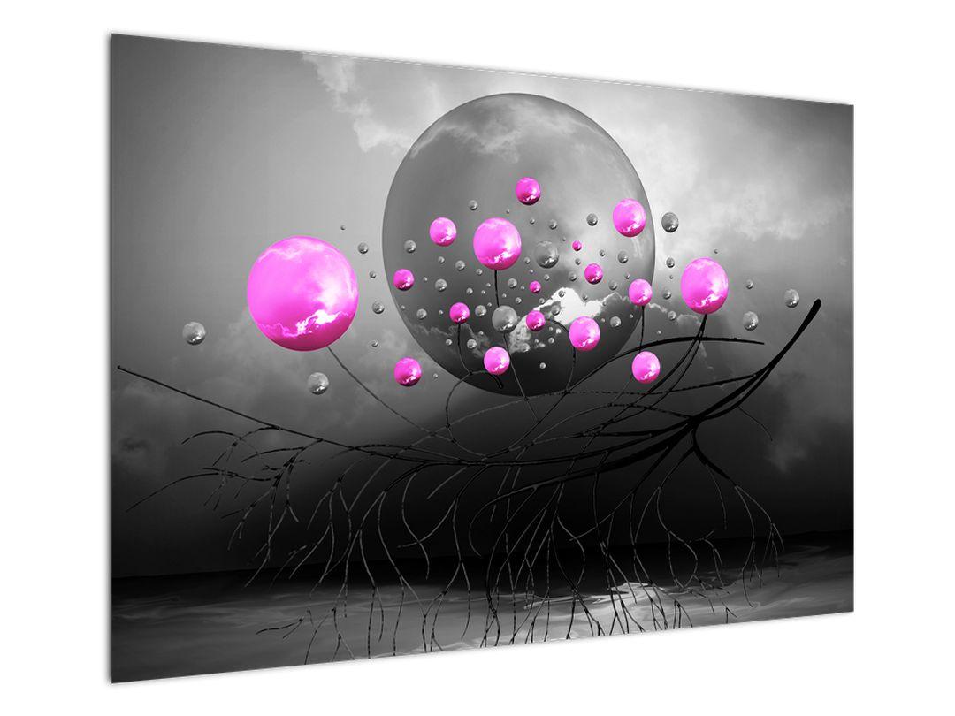 Tablou cu bile roz  (V020105V10070)