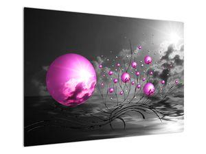 Obraz ružových gulí (V020108V10070)