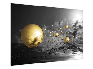 Okker gömbök képe (V020109V10070)