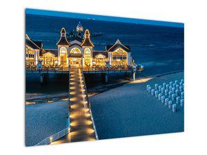 Tablou - hotel pe plajă (V020289V10070)