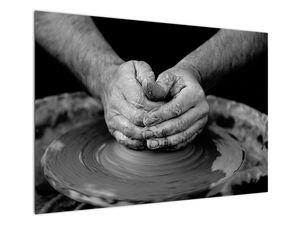Černobílý obraz - výroba keramiky (V020349V10070)