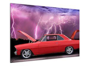 Slika crvenog automobila (V020409V10070)