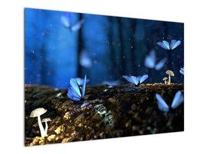 Obraz modrých motýlů (V020434V10070)