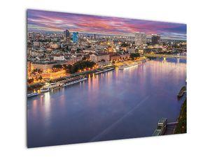 Obraz nočného mesta Bratislavy s riekou (V020706V10070)
