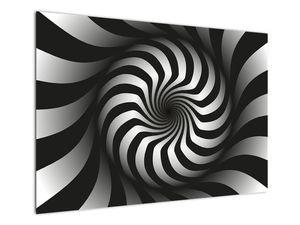 Abstraktní obraz černobílé spirály (V020831V10070)