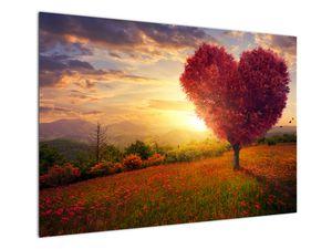 Obraz stromu v tvare srdca (V020949V10070)