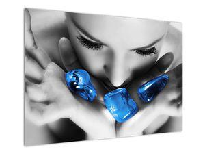 Slika portreta žene s kamenjem (V021283V10070)