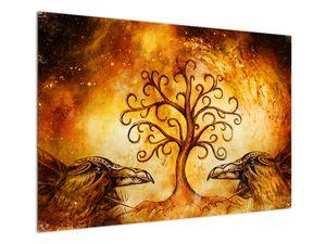 Prírodný abstraktný obraz stromu (V022111V10070)