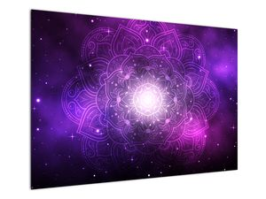 Obraz fialové abstrakce (V022148V10070)
