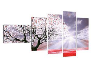 Červený obraz stromu (V020052V11060)