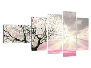 Růžový obraz stromu (V020058V11060)