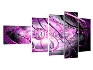 Obraz krásné fialové abstrakce (V020060V11060)