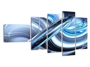 Tablou cu abstracție albastră (V020061V11060)