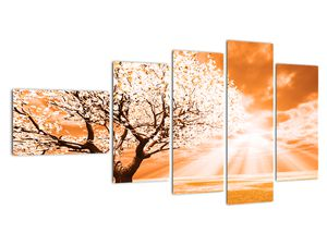 Oranžový obraz stromu (V020095V11060)