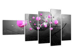 Tablou cu bile roz  (V020105V11060)