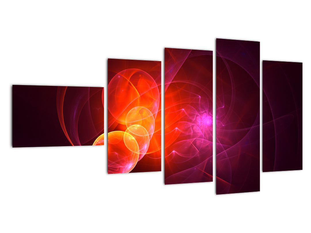 Moderní obraz růžové abstrakce (V020129V11060)