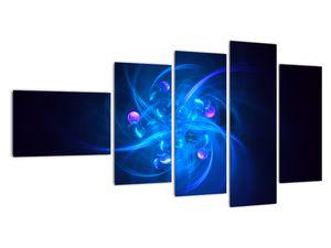 Moderní obraz modré abstrakce (V020137V11060)