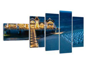 Tablou - hotel pe plajă (V020289V11060)