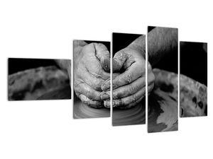 Černobílý obraz - výroba keramiky (V020349V11060)