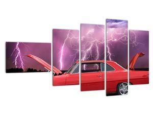 Slika crvenog automobila (V020409V11060)