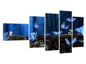 Obraz modrých motýlů (V020434V11060)