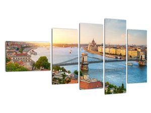Obraz města Budapešť s řekou (V020712V11060)