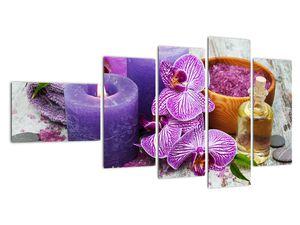 Obraz orchideí a svíček (V020894V11060)