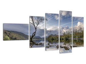 Obraz řeky se stromem (V020917V11060)