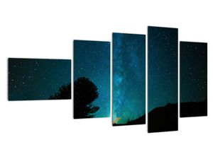 Obraz nočnej oblohy s hviezdami (V021100V11060)
