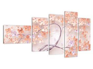 Obraz korálových květů stromu - abstrakt (V021301V11060)