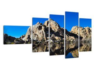Obraz zrkadlenie skál (V021327V11060)
