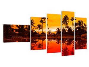 Obraz - Západ slunce nad resortem (V021904V11060)