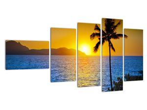 Obraz - Západ slunce nad mořem (V021905V11060)