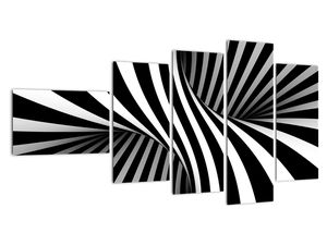 Abstraktní obraz se zebrovými pruhy (V021960V11060)