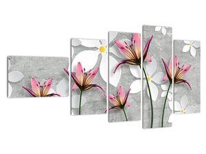 Obraz květinové abstrakce (V022186V11060)