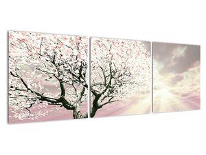 Růžový obraz stromu (V020058V12040)