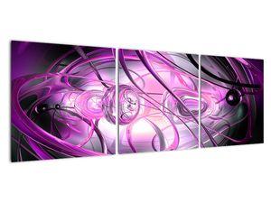 Obraz krásné fialové abstrakce (V020060V12040)