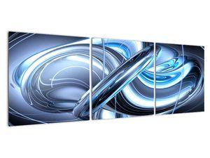 Tablou cu abstracție albastră (V020061V12040)