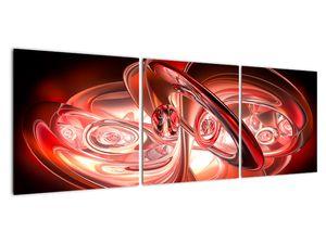 Obraz - červené tvary (V020064V12040)