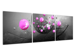 Tablou cu bile roz  (V020105V12040)
