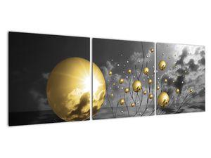 Okker gömbök képe (V020109V12040)