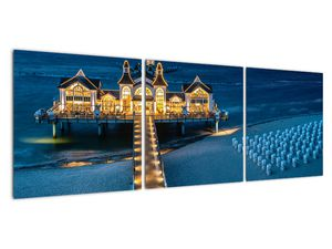 Tablou - hotel pe plajă (V020289V12040)