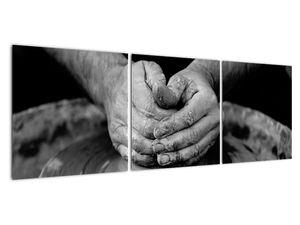 Černobílý obraz - výroba keramiky (V020349V12040)
