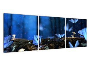 Obraz modrých motýlů (V020434V12040)