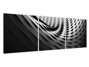 Abstraktní obraz - černobílá spirála (V020667V12040)